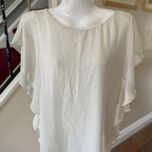 Cute Forever 21 beige blouse